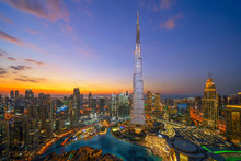 Aerial View Of Burj Khalifa In...