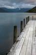 Lake Rotoroa. Jetty. New Zealand. Evening light