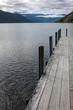 Lake Rotoroa. New Zealand Evening light. Jetty