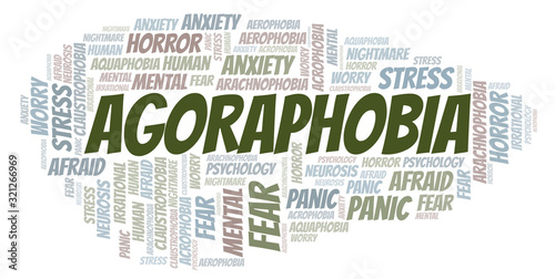 Agoraphobia word cloud. Canvas Print