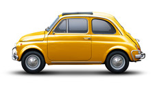 Small Retro Car Of Yellow Colo...