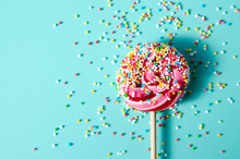 Colorful Lollypop Candy With R...