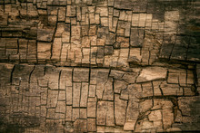 Old Rotten Wood Background Rus...