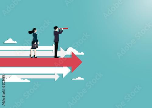 Fotografía Business people vision concept