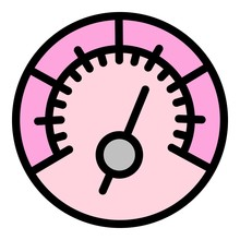 High Speedometer Icon. Outline...