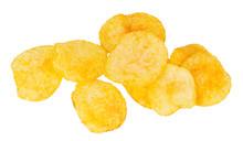 Tasty Chips Potato Isolated On...