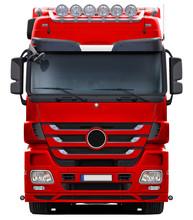 European Red Modern Truck Fron...