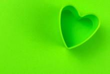 Green Heart Shape On Green Bac...