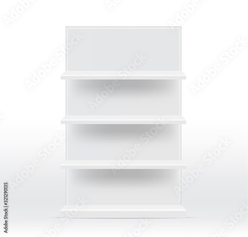 Fényképezés Mock up Realistic Empty Shelves for interior to Show Product with light and shad
