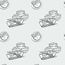 Johnnycake Seamless Pattern Gr...