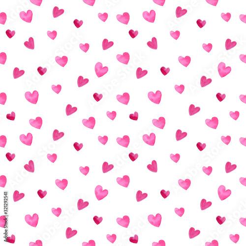walentynki-rozowy-serce-ksztalt-akwarela