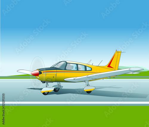 Sportflugzeug, viersitzig Cherokee Archer Canvas Print
