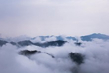 The Cloud Up Above The Mountains In Taiwan