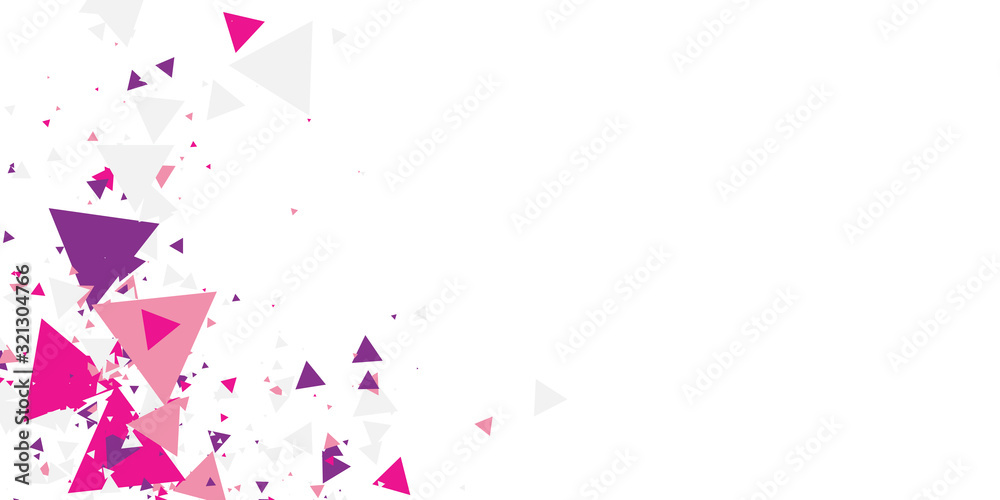 Fototapeta Pink purple geometric triangle abstract background for presentation design. Vector illustration and graphic design