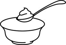 Yogurt With Spoon Icon