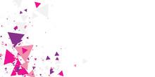 Pink Purple Geometric Triangle...