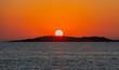 canvas print picture - Sonnenuntergang um 20 Uhr Abend von einer Yacht aus am Mittelmeer vor Kos Griechenland