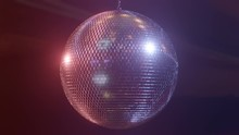 Rotating Mirror Disco Ball In ...
