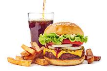 Hamburger, French Fries And Dr...
