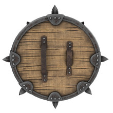 Fantasy Round Viking Wooden Sh...