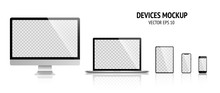 Realistic Devices Mockup Set O...