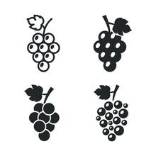 Grapes Icon Template Color Edi...