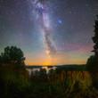 Leinwanddruck Bild - Starry night in summer
