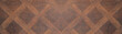 Dark brown wooden pattern square texture background banner panorama long