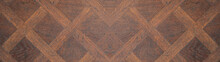 Dark Brown Wooden Pattern Squa...