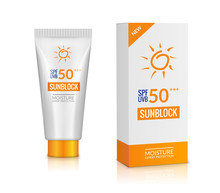 Sunblock Bottle Lotion Cream. Sunscreen Background Protection Isolated Cosmetic Block Uv, Solar Care Product Mockup
