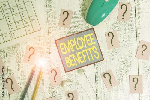 Handwriting text Employee Benefits Wallpaper Mural