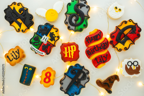 Foto Harry Potter Sugar Cookies With Royal Icing