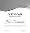 Certificate award diploma template design. Certificate appreciation modern business card award design