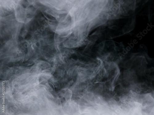 Fototapety, obrazy: smoke white group on dark background