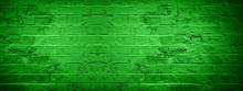Green Damaged Rustic Brick Wal...