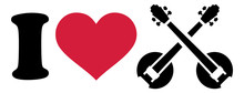 I Love Banjo Icon