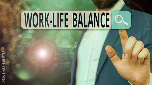 Handwriting text Work Life Balance Canvas Print