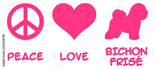 Fényképezés Peace, Love, Bichon Frise