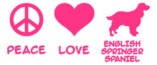 Peace, Love, English Springer ...