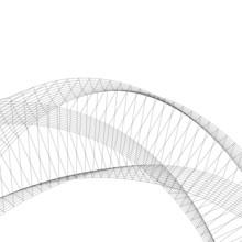 Architecture Abstract Futuristic Design 3d. Vector Illustration