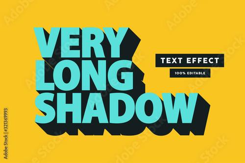 Retro long shadow text effect, editable text