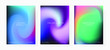Set of shiny iridescent holographic foil texures for poster and cover design.