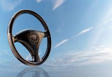 Car Steering Wheel, Leather Co...