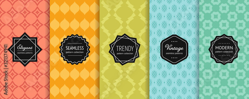 Photo Vector geometric seamless patterns