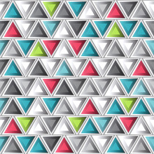 Abstract Colored Triangle Seam...