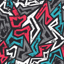Colored Graffiti Seamless Patt...