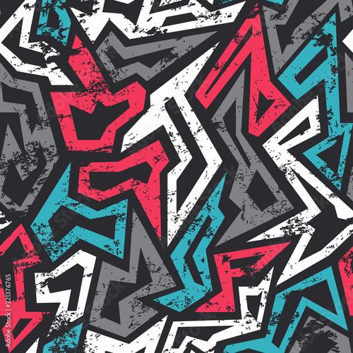 Tapety do pokoju młodzieżowego  colored-graffiti-seamless-pattern-with-grunge-effect