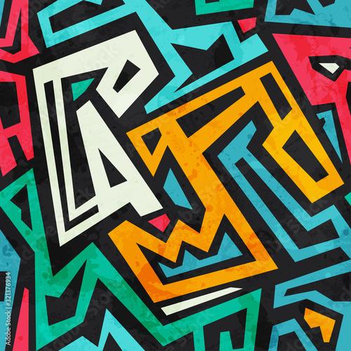 Fototapeta Afryka   colored-tribal-seamless-pattern-with-grunge-effect