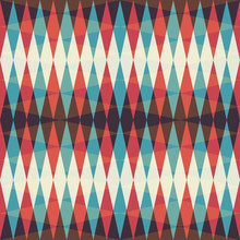 Retro Rhombus Seamless Pattern