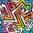 canvas print picture - spectrum color graffiti seamless pattern
